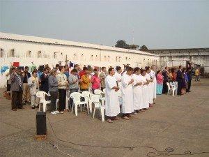 Parte do público que participou da grande festa