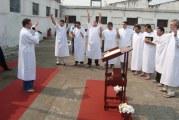 BATISMO, ESCOLA BÍBLICA E REUNIÃO DE OBREIROS NA PENITENCIÁRIA ESTADUAL DO JACUÍ