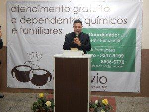 O Aux. Ademir Fernandes é o coordenador do trabalho do Café Convívio em Cachoeirinha