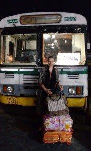 Ônibus do trajeto Ongolu à Markapur - 2h30min de viagem