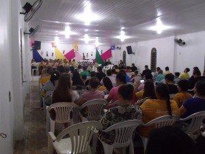Muitas pessoas participaram do I Encontro Infantil da Congregação