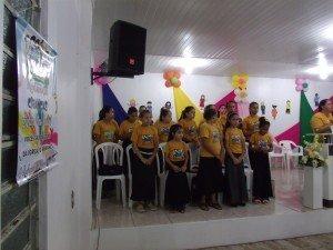 Participação do coral infantil local