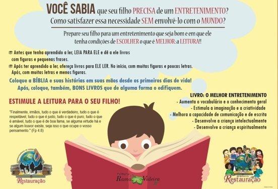 Cartaz incentivo leitura 2