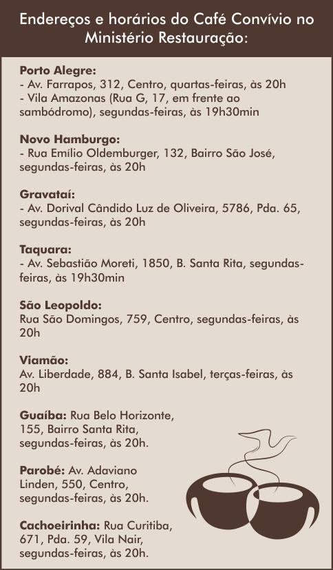 Horários Café Convívio