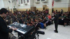 A Orquestra de Caxias do Sul esteve presente na última Vigília Geral da Juventude Restauração