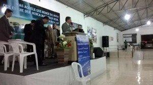 Ev. Natanael Lino ministrou a palavra de Deus no sábado à noite