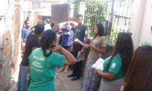 Os jovens da Vila Gaúcha se reuniram para sair às ruas do bairro