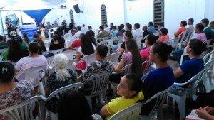 Parte do público presente no evento