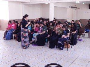 No domingo pela manhã, a irmã Karine Almeida foi a preletora