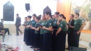 A juventude de Taquara adorou a Deus no domingo à noite
