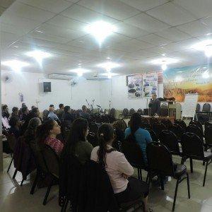 O Ev. Gilberto Gonçalves, Supervisor de Ensino da Região, ministrou um estudo bíblico