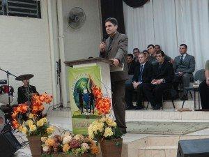 O Superintendente da Juventude Restauração, Ev. Rodrigo Tavares, participou do primeiro dia do evento