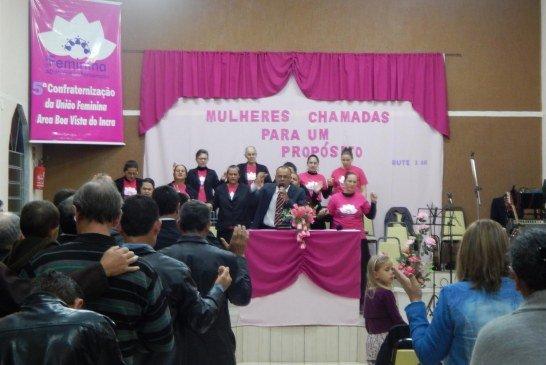 CONFRATERNIZAÇÃO DA UNIÃO FEMININA E BATISMO EM BOA VISTA DO INCRA/RS