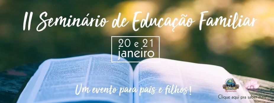 II SEMINARIO DE EDUCAÇÃO FAMILIAR SITE