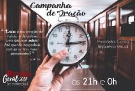 CAMPANHA DE ORAÇÃO – 21H E 0H