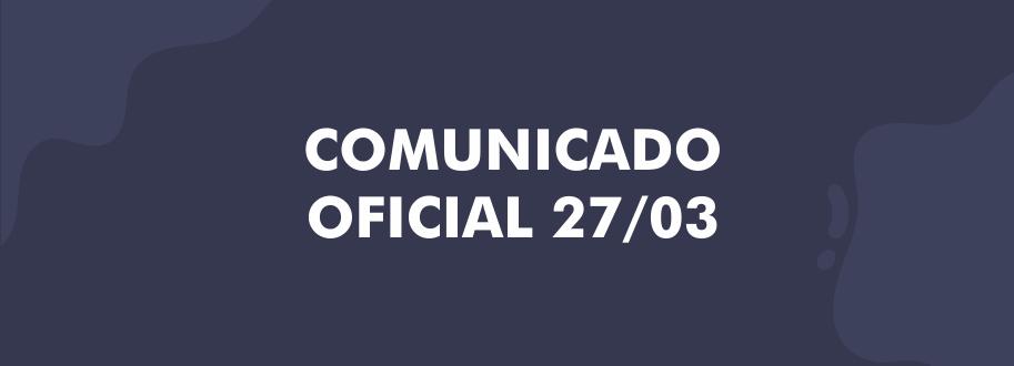 comunicado oficial site
