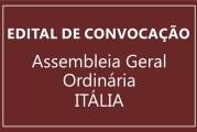 EDITAL DE CONVOCAÇÃO – ASSEMBLEIA GERAL ORDINARIA – ITÁLIA