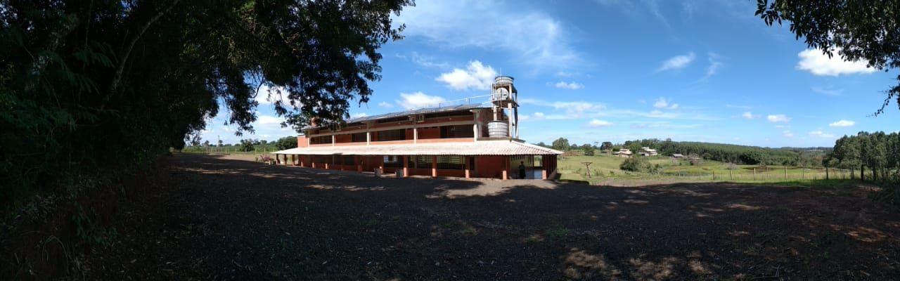 Vista da casa de retiros, onde foi realizada a Escola de Missões